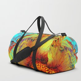 Sunflower Abstract Duffle Bag