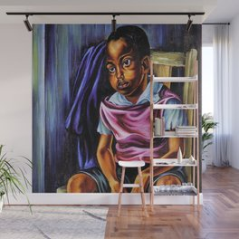 """African American Classical Masterpiece """"Negro Boy, 1938"""" by Hale Woodruff Wall Mural"""