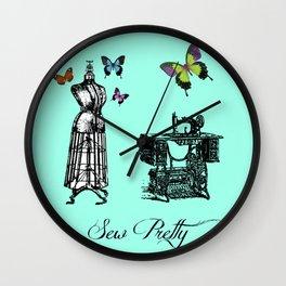 Sew Pretty Wall Clock