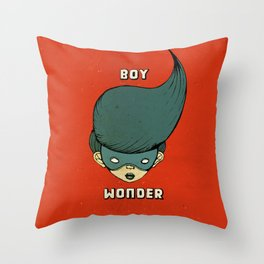Boy Wonder {Red.} Throw Pillow