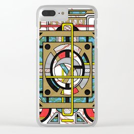 Switchplate - Surreal Geometric Abstract Expressionism Clear iPhone Case