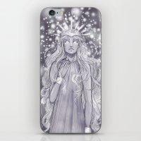 valar morghulis iPhone & iPod Skins featuring Varda, valar of light by AlyTheKitten