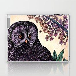 Great Grey Owl At Sunset Laptop & iPad Skin