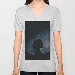Moon gazer (BLUE) Unisex V-Neck