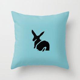 Rabbit Stamp Throw Pillow