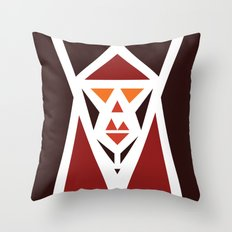 Five Triangle Faces - The Pope Throw Pillow