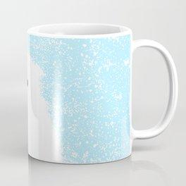 Its A Polar Bear Blinking In A Blizzard - Blue Coffee Mug