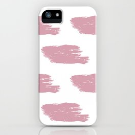 Red & White Big Watercolor Stripes iPhone Case