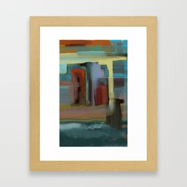 Abstract City, Southwestern Colors Framed Art Print