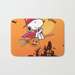 Snoopy magic Halloween Bath Mat