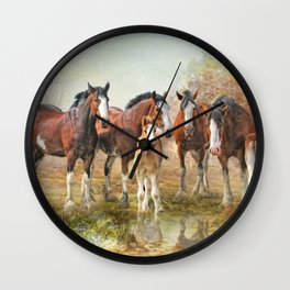 Yesterdays Reflection Wall Clock