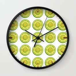 Lime and Lemon Slices VEGAN typography Wall Clock