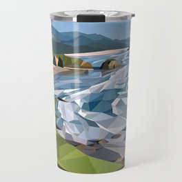Geometric Cannon Beach Travel Mug