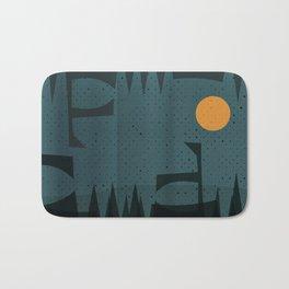 Night Abstract  Landscape Geometric Vector Art Bath Mat