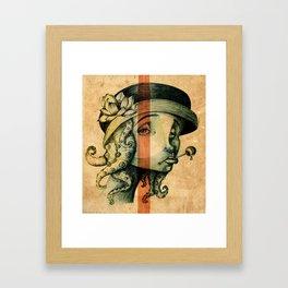 Lady Tentacles Framed Art Print