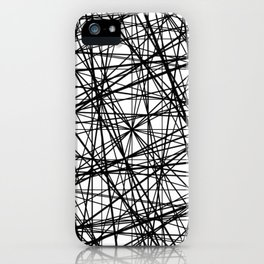 Geometric Collision - Abstract black and white iPhone Case