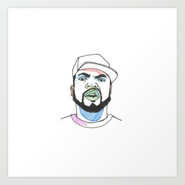 The Rapper-a-Day Project | Day 14: Ice Cube Art Print