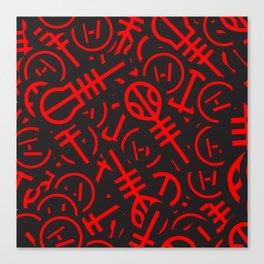 TØP Stickers - Red Canvas Print