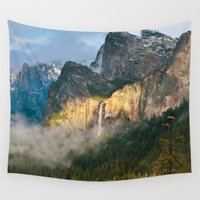 yosemite Wall Tapestries featuring Bridalveil Fall ~ Yosemite National Park  by John Minar Fine Art Photography