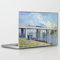 monet Laptop & iPad Skins featuring Claude Monet - Bridge by Elegant Chaos Gallery