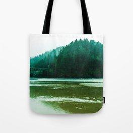 Foggy Beach in Oregon Tote Bag