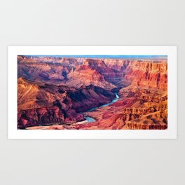 View of the Colorado River and Grand Canyon Art Print