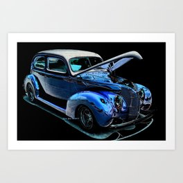 1939 Ford Coupe By Annie Zeno Art Print