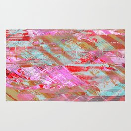 Confidence - Abstract, textured oil painting Rug