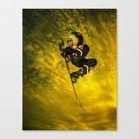 snowboarding Canvas Prints featuring Snowboarding #1  by Bruce Stanfield