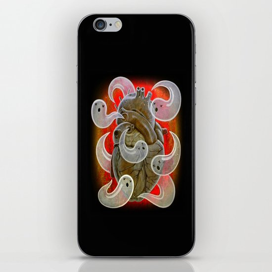 """A HEART FULL OF GHOSTS"" iPhone & iPod Skin"