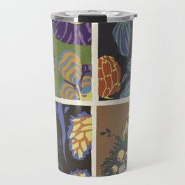 vintage trendy floral pattern design Travel Mug