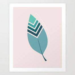 Tribal Leaf Art Print