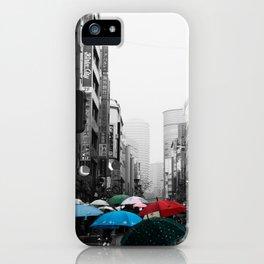 Ikebukuro Rain (B&W) iPhone Case