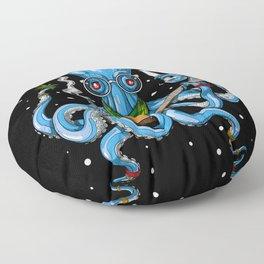 Hippie Octopus Smoking Weed Floor Pillow