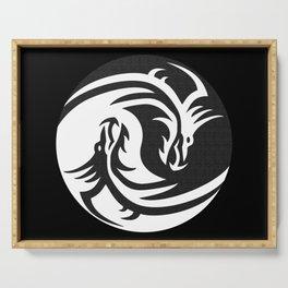 Dragons Yin Yang Serving Tray