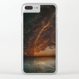 The Mediterranean Sunset Clear iPhone Case