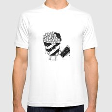 French Fries White Mens Fitted Tee MEDIUM