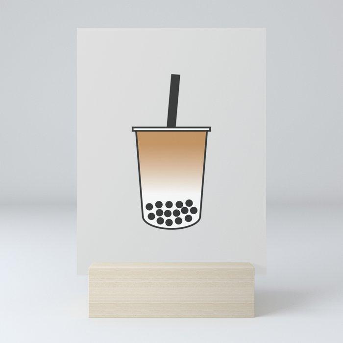 Milk Bubble Tea Mini Art Print