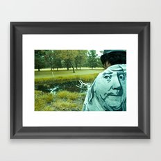 BJ on my back Framed Art Print