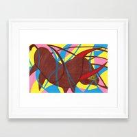 bull Framed Art Prints featuring Bull by PrincessThunderHead