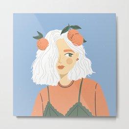 Clementine Girl Metal Print