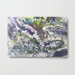 Intense Flow Metal Print