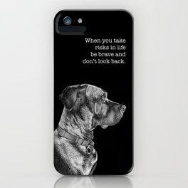 Silver Ridgeback, don't look back iPhone Case