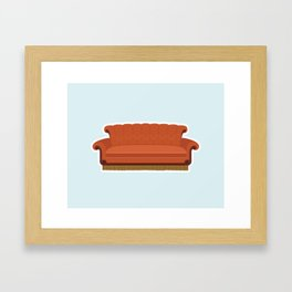 Couch Central Perk Framed Art Print