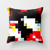 pixel Throw Pillows featuring pixel by shopcicelysiller