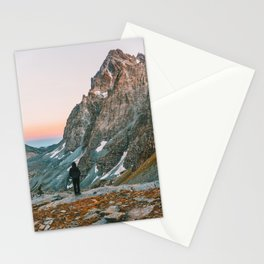 sunset on the monviso Stationery Cards