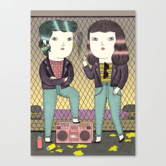 Girl Gang Canvas Print