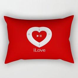 iLove red- By THE-LEMON-WATCH Rectangular Pillow