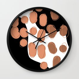 Abstract print- black & brown Wall Clock