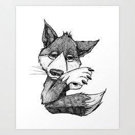 E - Animal Alphabet Art Print